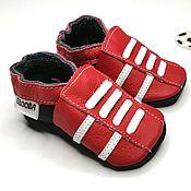 Работы для детей, handmade. Livemaster - original item Red Baby Shoes leather Sneakers,Leather baby shoes,Ebooba. Handmade.