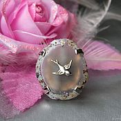 Украшения handmade. Livemaster - original item Ring Swallow. gray cut agate. Handmade.
