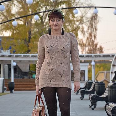 Clothing handmade. Livemaster - original item Sweatshirts: knitted sweater Leaves. Handmade.