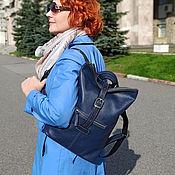 Сумки и аксессуары handmade. Livemaster - original item Backpacks: Backpack leather womens blue Belcanto Mod SR34-161. Handmade.