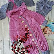 """Комбинезоны ручной работы. Ярмарка Мастеров - ручная работа Комбинезон """"Зайка"""" для малыша. Handmade."""