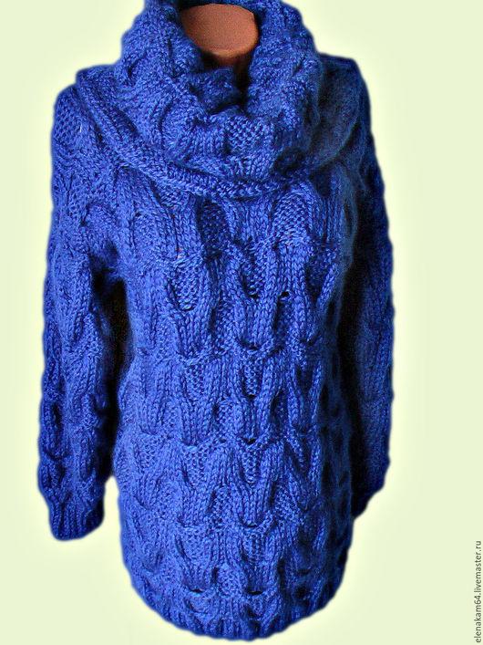 Кофты и свитера ручной работы. Ярмарка Мастеров - ручная работа. Купить свитер женский вязаный. Handmade. Синий, синий свитер