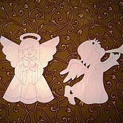 Материалы для творчества ручной работы. Ярмарка Мастеров - ручная работа Ангелочки,подвески на елку. Handmade.