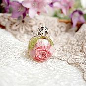 Украшения ручной работы. Ярмарка Мастеров - ручная работа 1.Кулон-сфера с с цветком розы, 22 мм. Handmade.
