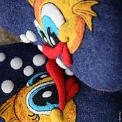 """Обувь ручной работы. Ярмарка Мастеров - ручная работа Домашние ВаляныеМужские&женские Тапочки """"Рыбка моя зь"""". Handmade."""