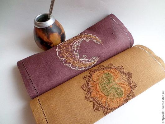 Текстиль, ковры ручной работы. Ярмарка Мастеров - ручная работа. Купить салфетки с вышивкой Этника. Handmade. Бежевый, салфетки с вышивкой