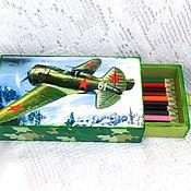 Канцелярские товары handmade. Livemaster - original item Pencil Case Boy. Handmade.