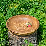 Посуда handmade. Livemaster - original item Plate from the Siberian Elm 34#25. Handmade.