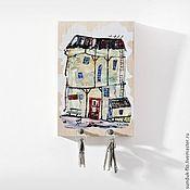 Для дома и интерьера handmade. Livemaster - original item Wall housekeeper Small house. Handmade.