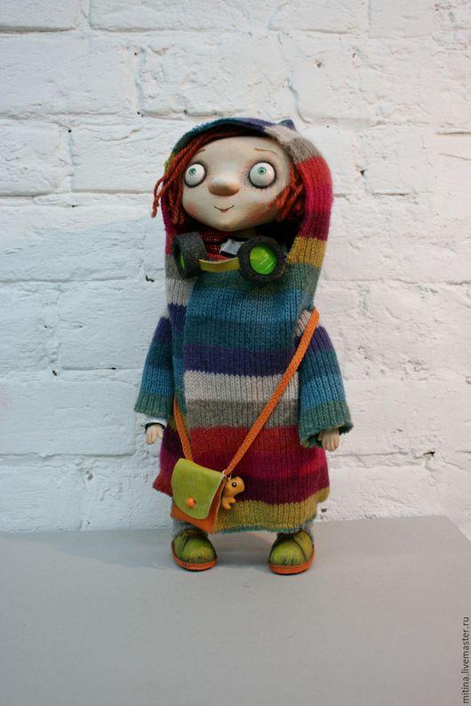 Человечки ручной работы. Ярмарка Мастеров - ручная работа. Купить Цветное настроение. Handmade. Рыжий, текстильная кукла, шерсть