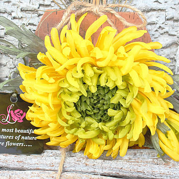 Цветы и флористика ручной работы. Ярмарка Мастеров - ручная работа Цветы: Хризантема из шелка. Королева осени. Handmade.