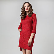 Одежда ручной работы. Ярмарка Мастеров - ручная работа Платье ярко-красного цвета. Handmade.