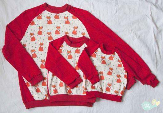 Кофты и свитера ручной работы. Ярмарка Мастеров - ручная работа. Купить Свитшот, лонгслив для мальчик и девочек, мамы и папы, familylook. Handmade.