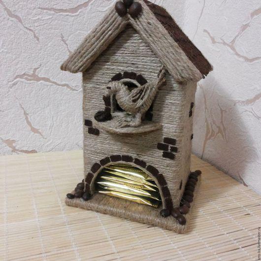 Кухня ручной работы. Ярмарка Мастеров - ручная работа. Купить Чайный домик. Handmade. Бежевый, кофе, джутовый шпагат