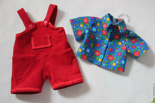 Одежда для кукол ручной работы. Ярмарка Мастеров - ручная работа. Купить Костюм для винтажного пупса. Handmade. Ярко-красный