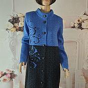 Одежда handmade. Livemaster - original item Knitted coat, demi-season, half-wool, ,54-56p.. Handmade.