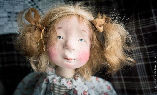Коллекционные куклы ручной работы. Ярмарка Мастеров - ручная работа. Купить Как больше никакого сладкого?!. Handmade. Бежевый, трессы