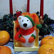 Куклы и игрушки ручной работы. Ярмарка Мастеров - ручная работа Медвежонок мандарин. Handmade.