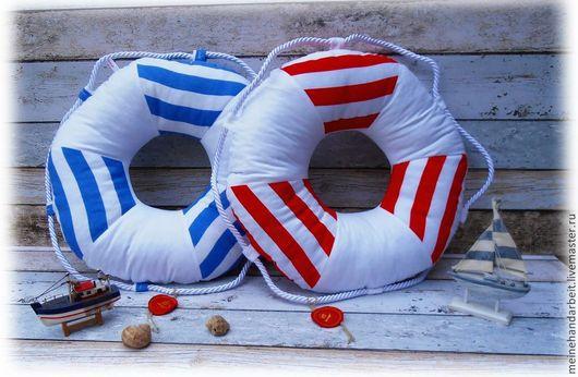 """Шитье ручной работы. Ярмарка Мастеров - ручная работа. Купить МК подушка """"Спасательный круг"""". Handmade. Белый"""