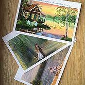 Открытки ручной работы. Ярмарка Мастеров - ручная работа Авторские почтовые открытки. Handmade.