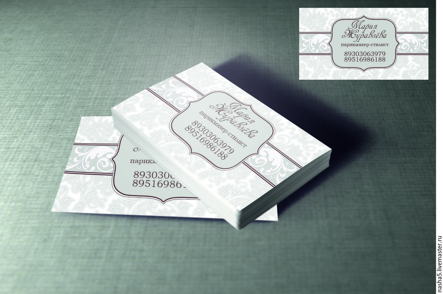 Design business cards – shop online on Livemaster with shipping ...