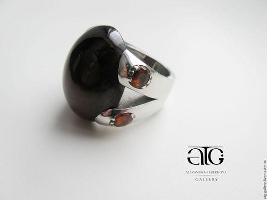 Сделаю на заказ. Очень красивое, стильное, имиджевое кольцо с роскошными  гессонит гранатами 65.21 Carat!