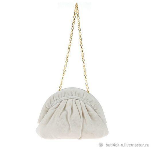 Vintage plush milky velvet clutch, Vintage bags, Nelidovo,  Фото №1