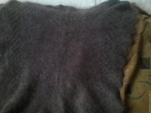 Шали, палантины ручной работы. Ярмарка Мастеров - ручная работа. Купить пуховый платок. Handmade. Однотонный, темно-серый