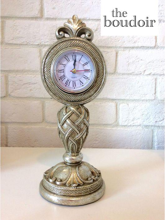 """Часы для дома ручной работы. Ярмарка Мастеров - ручная работа. Купить Каминные часы из коллекции """"Серебро"""". Handmade. Каминные часы"""