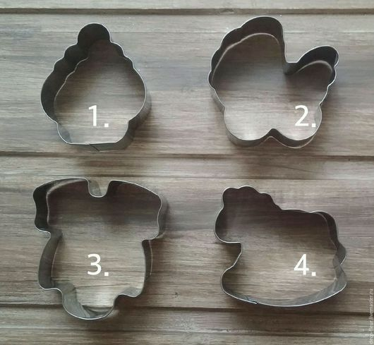 Другие виды рукоделия ручной работы. Ярмарка Мастеров - ручная работа. Купить Вырубки кондитерские для печенья и пряников. Handmade. Серый