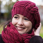Аксессуары ручной работы. Ярмарка Мастеров - ручная работа Комплект вязаный женский шапка снуд. Handmade.