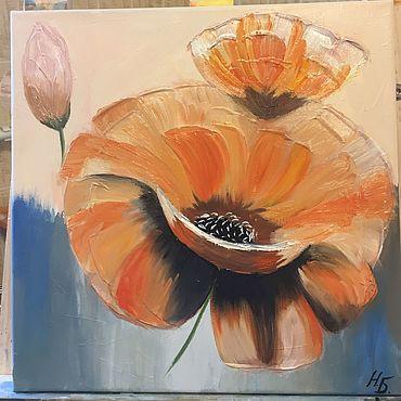 Картины и панно ручной работы. Ярмарка Мастеров - ручная работа Картины: Яркий интерьерный цветок. Handmade.