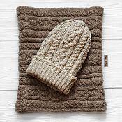 Аксессуары handmade. Livemaster - original item Iris Gwenn knitted set: hat and Snood-trumpet. Handmade.