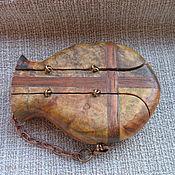 Подарки к праздникам ручной работы. Ярмарка Мастеров - ручная работа Реликварий из березового капа и мербао. Handmade.