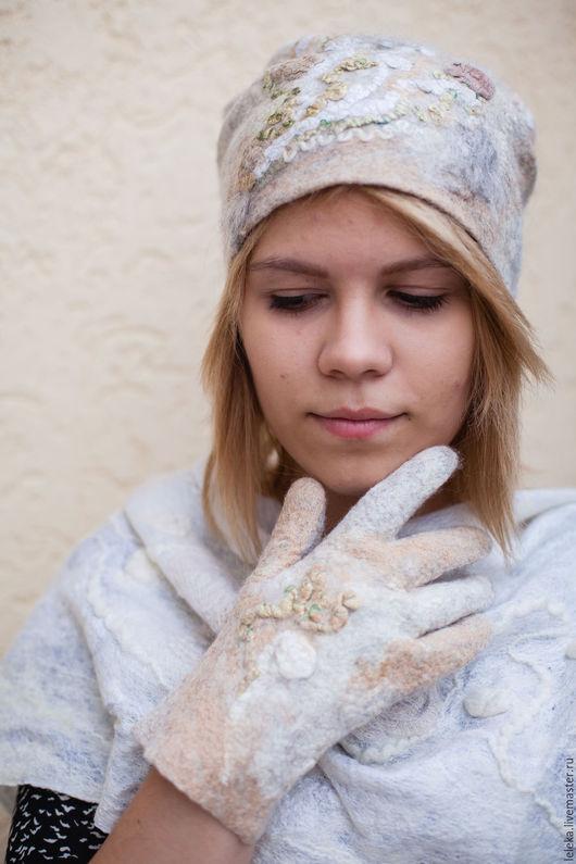 """Шапки ручной работы. Ярмарка Мастеров - ручная работа. Купить шапка валяная """"Овсянка"""". Handmade. Женская мода, светлый"""