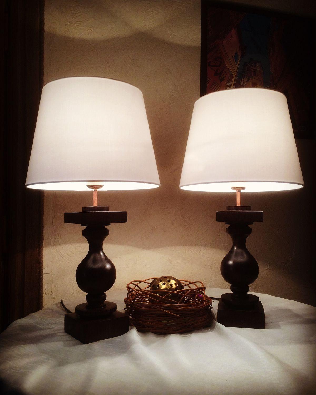 Настольная лампа из дуба, Люстры, Брест, Фото №1