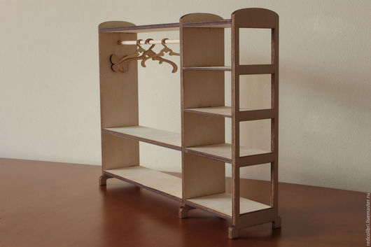 Кукольный дом ручной работы. Ярмарка Мастеров - ручная работа. Купить Мебель для кукольного домика - Гардероб-вешалка. Handmade.