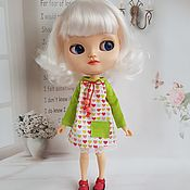 """Выкройка """"Платье-бусинка"""" для куклы Blythe,тела Azon, Pullip"""