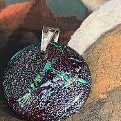 Винтаж handmade. Livemaster - original item Pendant, Atmosphere pendant, Murano, 925 silver, Italy. Handmade.