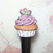"""Посуда ручной работы. Ярмарка Мастеров - ручная работа Вкусная ложка """"Капкейк с розами"""". Handmade."""