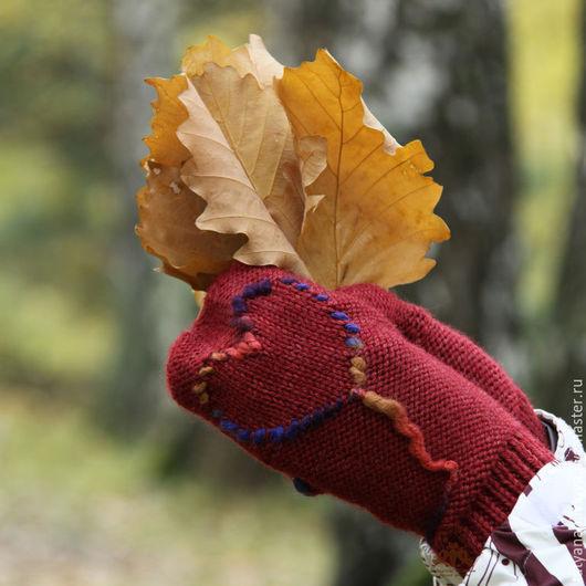 Варежки, митенки, перчатки ручной работы. Ярмарка Мастеров - ручная работа. Купить Варежки вязаные Варежки вязанные женские из толстой пряжи. Handmade.