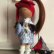 Куклы и игрушки ручной работы. Ярмарка Мастеров - ручная работа Интерьерная текстильная кукла Морячка Софа. Handmade.