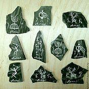 Сувениры и подарки handmade. Livemaster - original item Magnets stone Altai petroglyphs Magnet Jasper painting on stone. Handmade.