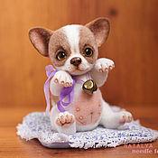 Куклы и игрушки ручной работы. Ярмарка Мастеров - ручная работа Чихуахуа Баффи. Валяная тедди игрушка. Handmade.