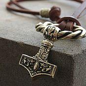 Украшения handmade. Livemaster - original item Pendant - pendant on the neck. Hammer of Thor. Handmade.