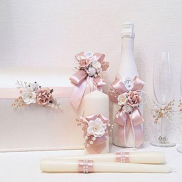 """Свадебный салон ручной работы. Ярмарка Мастеров - ручная работа Свадебный набор """"Пудровая нежность"""". Handmade."""