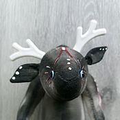 Мягкие игрушки ручной работы. Ярмарка Мастеров - ручная работа Необычный лось. Handmade.