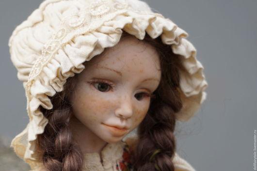 Коллекционные куклы ручной работы. Ярмарка Мастеров - ручная работа. Купить Гретта. Handmade. Бордовый, кукла, шарнирная кукла