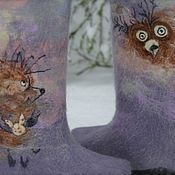 """Обувь ручной работы. Ярмарка Мастеров - ручная работа Валенки """" Ежик в тумане"""". Handmade."""