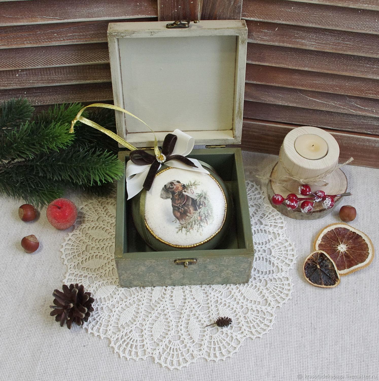 Christmas ball Box Christmas kit decoupage – shop online on